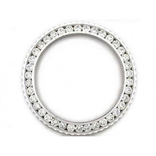 MENS 3CT CHANNEL SET DIAMOND BEZEL 14KW FOR SUBMARINER