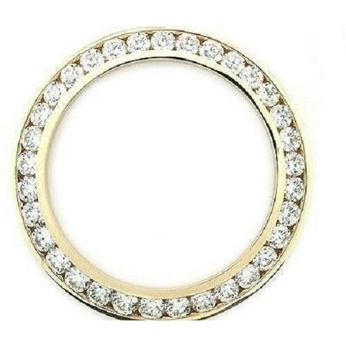 MENS 5CT CHANNEL SET DIAMOND BEZEL 14KY FOR ROLEX WATCH