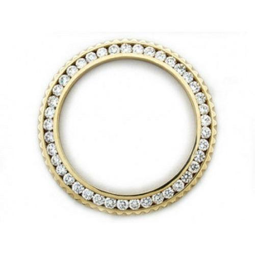 MENS 3CT CHANNEL SET DIAMOND BEZEL 18KY FOR SUBMARINER