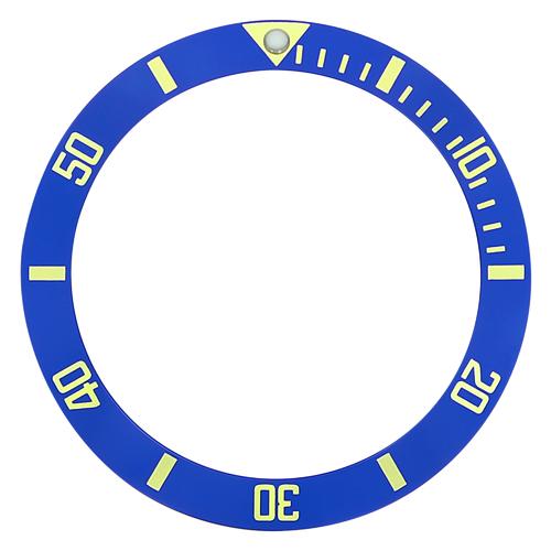 BEZEL INSERT FOR INVICTA DIVER 8926A 8928 9937 8928OB PRO DIVER BLUE GOLD FONT