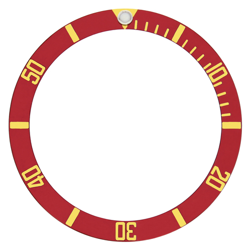 BEZEL INSERT FOR SUBMARINGER PLASTIC MODEL 5508, 5512, 5513 WATCH RED GOLD FONT