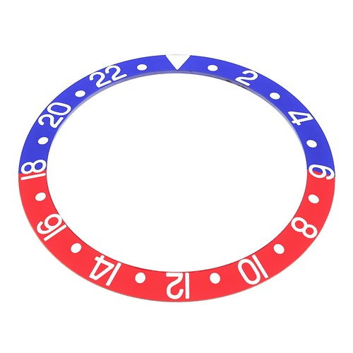 PEPSI BEZEL INSERT FADED FOR VINTAGE ROLEX GMT 1670 1675 1680 16750 BLUE/RED