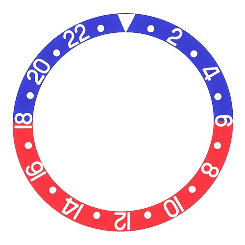 BEZEL INSERT PEPSI FADED FOR VINTAGE ROLEX GMT 1670,16753,16758 BLUE/RED PART #1
