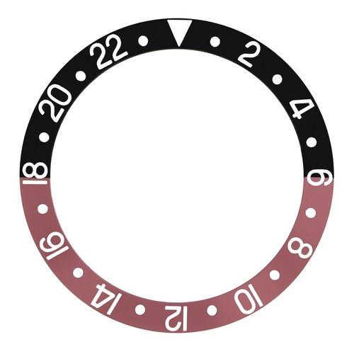 BEZEL INSERT FADED FOR VINTAGE ROLEX GMT I 1675 16750 16753 16758 BLACK/RED COKE
