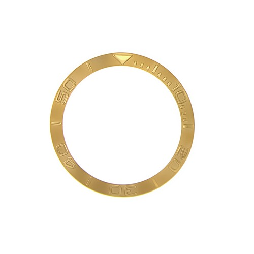 BEZEL INSERT FOR LADY 29MM ROLEX YACHTMASTER 69623 69628 169623 GOLD COLOR
