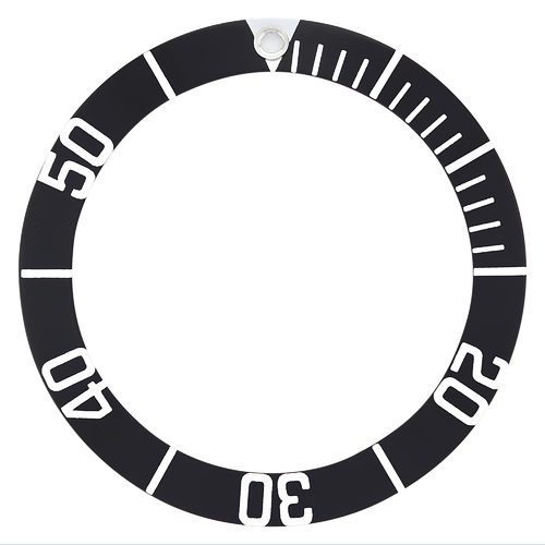 BEZEL INSERT FOR TAG HEUER AQUARACER PROFESSIONAL 926.206G,WAB1110,WAB1111 BLACK