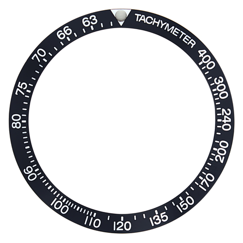 REPLACEMENT BEZEL INSERT BLACK WITH PEARL FLAT FOR WATCH 39MM X 32.50MM