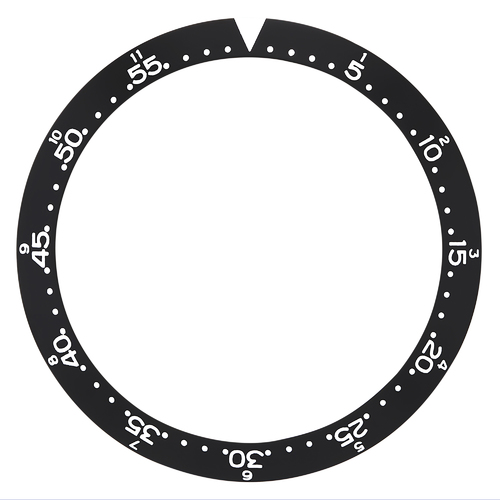 REPLACEMENT BEZEL INSERT BLACK FLAT FOR WATCH 40MM X33MM