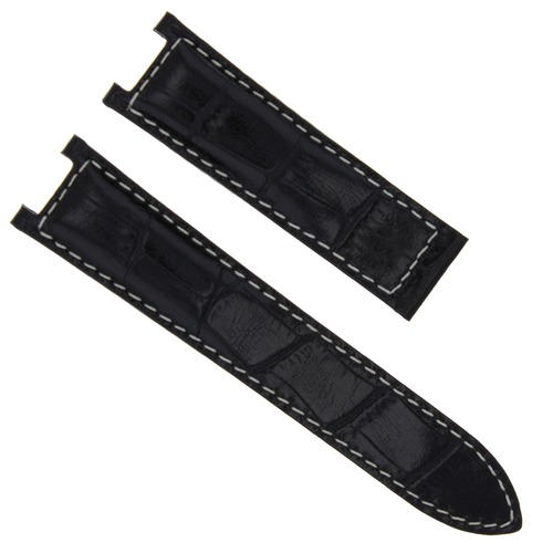 18MM LEATHER WATCH STRAP BAND FOR 35MM CARTIER PASHA WATCH 2377 2475 BLACK WS