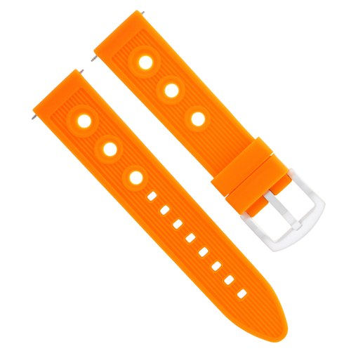 18MM SILICONE RUBBER DIVER WATCH BAND STRAP FOR OMEGA SEAMASTER MIDSIZE ORANGE