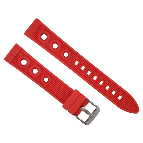 18MM SILCONE RUBBER DIVER WATCH BAND STRAP FOR OMEGA SPEEDMASTER MOON WATCH RED