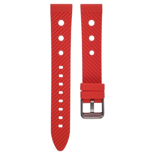 18MM RUBBER DIVER WATCH BAND STRAP FOR BREITLING CHRONOMAT A13035 AVENGER RED