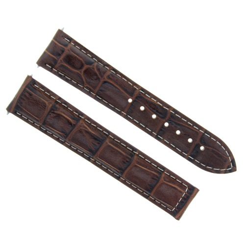 18MM LEATHER WATCH STRAP BAND FOR OMEGA SEAMASTER  DEPLOYMENT CLASP L/BROWN WS