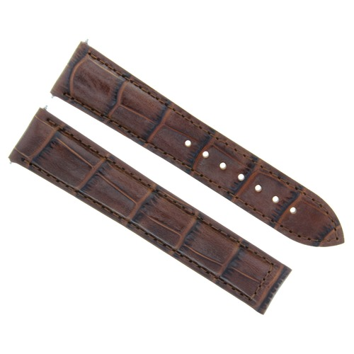 19MM LEATHER WATCH STRAP BAND CLASP FOR OMEGA SPEEDMASTER SEAMASTER L/BROWN