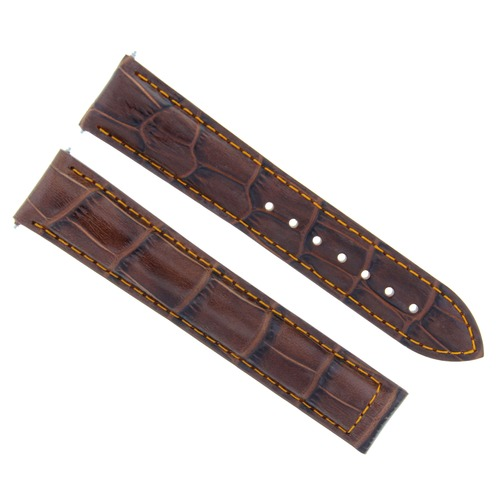 19MM LEATHER WATCH STRAP BAND DEPLOYMENT CLASP FOR OMEGA SEAMASTER L/BROWN OS