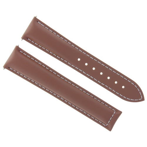 19MM LEATHER STRAP WATCH BAND FOR OMEGA SPEEDMASTER MOON SEAMASTER WATCH TAN WS