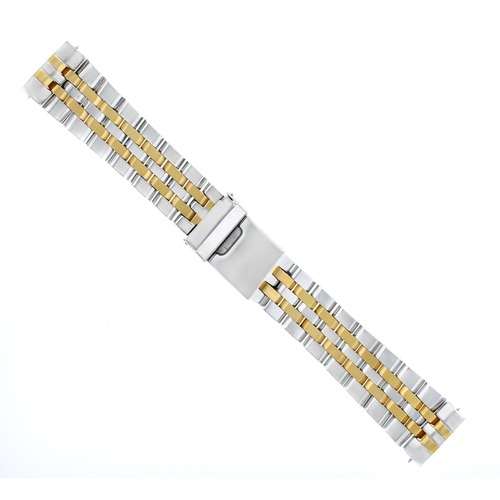 WATCH BAND BRACELET FOR BREITLING NAVITIMER BENTELY 24MM TWO TONE STRAIGHT END