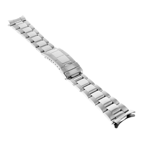 OYSTER WATCH BAND REPLACEMENT FOR 34MM ROLEX DATE AIRKING 19MM SHINY CTR F/LOCK