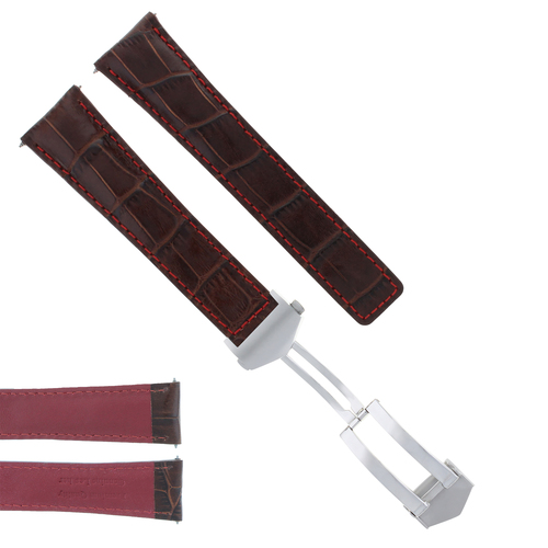 20MM LEATHER BAND STRAP CLASP FOR TAG HEUER CARRERA MONACO BROWN ORANGE STH 3TC