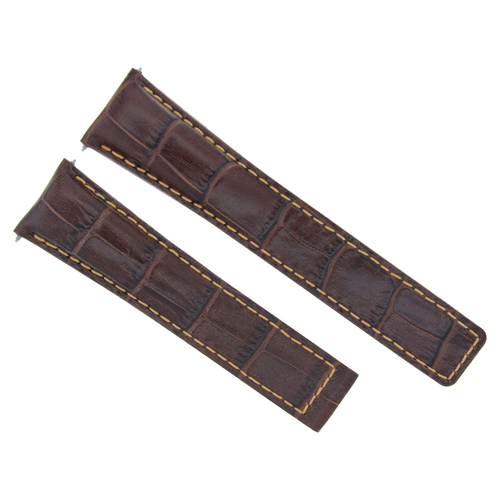 20MM LEATHER WATCH BAND STRAP CLASP FOR TAG HEUER CARRERA MONACO BROWN ORANGE