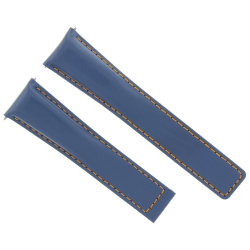 22MM LEATHER BAND STRAP FOR TAG HEUER MONACO 12 WV2115, WV2116, WV211A BLUE OS