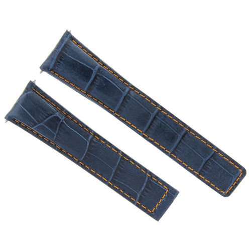 19MM LEATHER BAND STRAP DEPLOYMENT CLASP FOR TAG HEUER MONZA 19/16MM BLUE OS