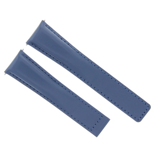 20/16MM LEATHER WATCH STRAP BAND FOR TAG HEUER MONZA WATCH DEPLOYMENT CLASP BLUE