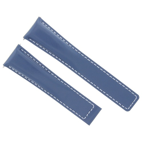 20/16MM LEATHER WATCH STRAP BAND DEPLOYMENT CLASP FOR TAG HEUER MONZA BLUE WS