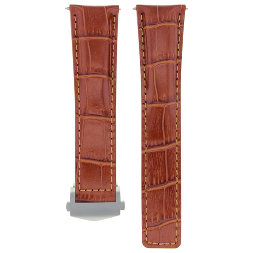 22MM LEATHER WATCH STRAP BAND FOR TAG HEUER CARRERA MONACO TAN FIT FC-5037-39-41