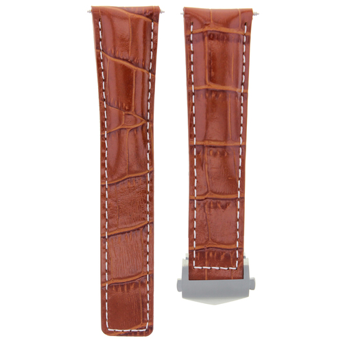 22MM LEATHER WATCH STRAP BAND FOR TAG HEUER CARRERA MONACO TAN WS FC-5037-39-42