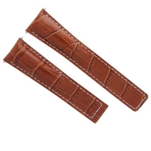 22MM LEATHER WATCH STRAP BAND FOR TAG HEUER CARRERA 1887 TAN WS FIT FC5037-39-42