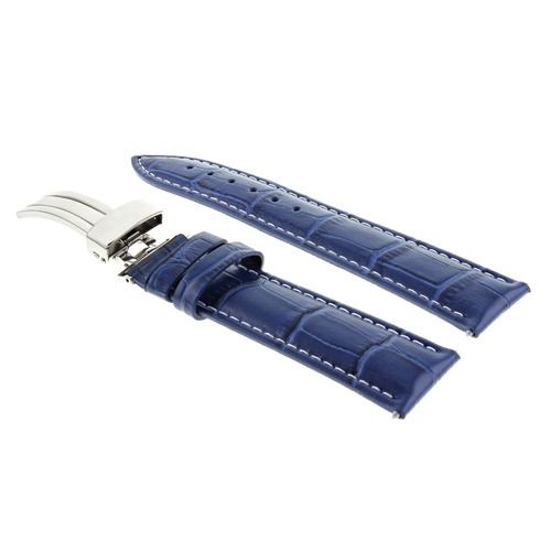 20/16MM LEATHER WATCH STRAP BAND FOR 36MM ROLEX DATEJUST 16213 16233 DATE BLUE