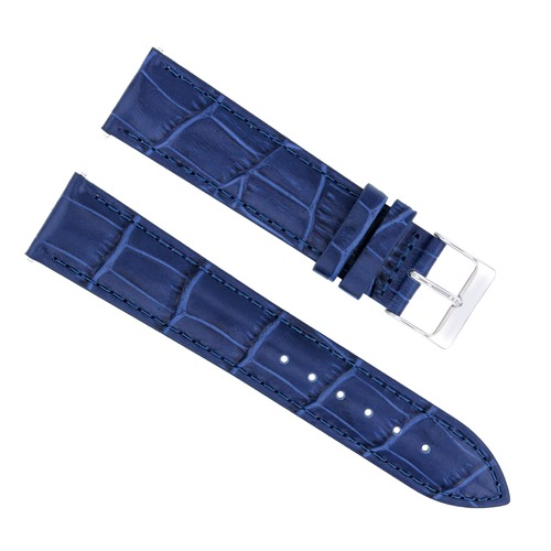20/16MM LEATHER WATCH STRAP BAND FOR 36MM ROLEX DATEJUST 1602,16014,16233 BLUE