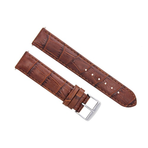 20MM LEATHER WATCH STRAP BAND FOR 41MM OMEGA SEAMASTER PLANET OCEAN BROWN/TAN