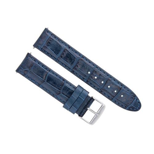24MM PREMIUM LEATHER WATCH STRAP BAND FOR OMEGA AQUA TERRA RAILMASTER WATCH BLUE