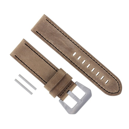 20MM LEATHER STRAP WATCH BAND FOR PANERAI 111 119 244 159 241 GMT SAND BLACK