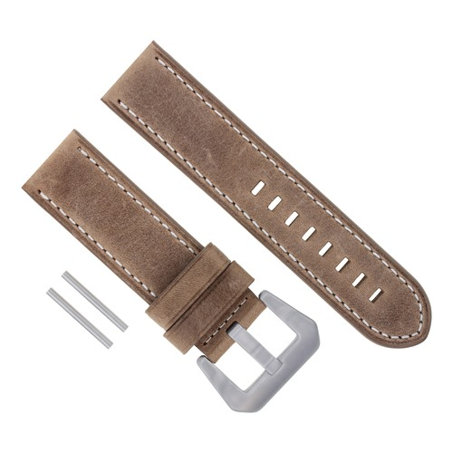 22MM LEATHER STRAP WATCH BAND FOR PANERAI 111 119 159 241 049 120 50 PAM SAND WS