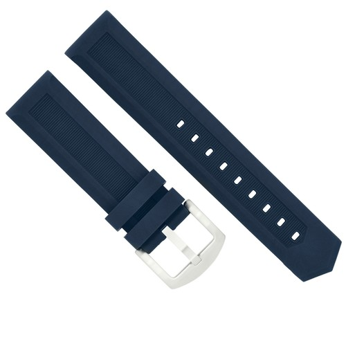 18MM RUBBER WATCH STRAP BAND FOR TAG HEUER F1 AQUARACER CARRERA MONACO BLUE 7P