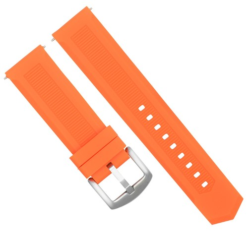 22MM RUBBER WATCH BAND STRAP DEPLOYMENT CLASP FOR TAG HEUER F-1 AQUARACER ORANGE