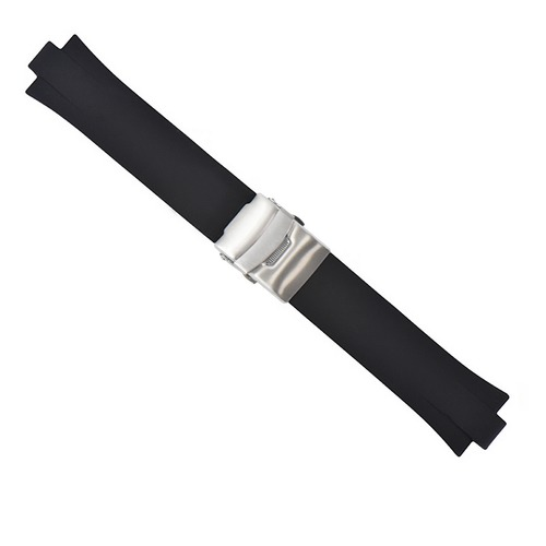 23MM 11MM TOP QUALITY PU RUBBER DIVER STRAP BAND FOR ORIS TT2 F1 40.5MM BLACK