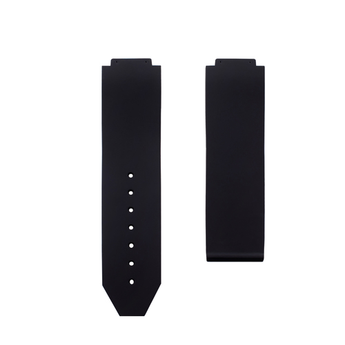 24MM RUBBER WATCH BAND STRAP FOR HUBLOT 44-45MM H BIG BANG WATCH SMOOTH BLACK