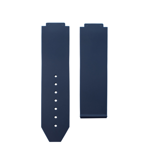 24MM RUBBER WATCH BAND STRAP FOR HUBLOT 44-45MM H BIG BANG WATCH SMOOTH BLUE