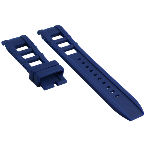 SILICONE RUBBER WATCH BAND STRAP FOR INVICTA I-FORCE 7423 12965 12966 12964 BLUE