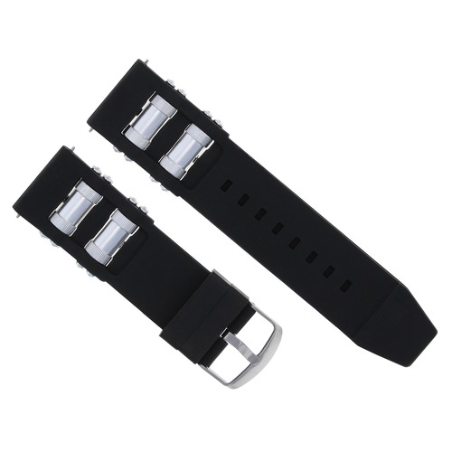 24MM SILICONE RUBBER WATCH STRAP BAND FOR INVICTA RUSSIAN DIVER WATCH BLACK