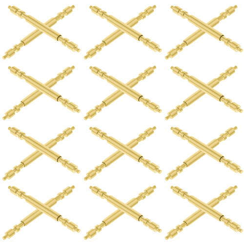 12 SPRING BARS PIN FOR 31NMM ROLEX DATEJUST PRESIDENT MIDSIZE/JUNIOR 17MM GOLD