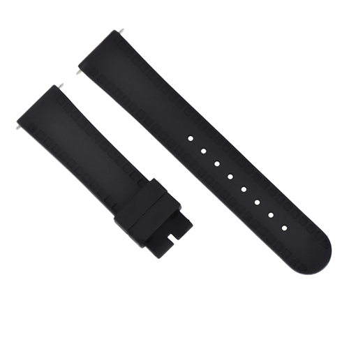 20MM SILICONE RUBBER WATCH BAND STRAP FOR TISSOT PRS516 PRC200 1853 RACING BLACK