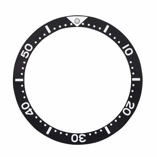 BEZEL INSERT FOR SEIKO DIVER WATCH SIZE 38.50MM X 31.50MM BLACK