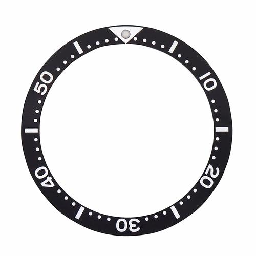 BEZEL INSERT FOR SEIKO DIVER WATCH SIZE 38.50 x 31.50 BLACK