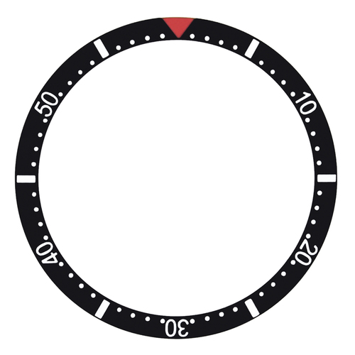 BEZEL INSERT FOR ROLEX SUBMARINER  37.5MM x 30MM  WITH RED TRIANGLE