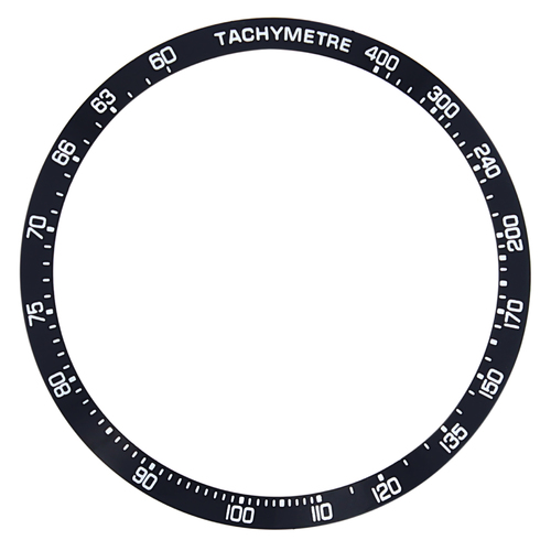 BEZEL INSERT FOR TAG HEUER TACHYMETRE WATCH BLACK 37MM X 32mm